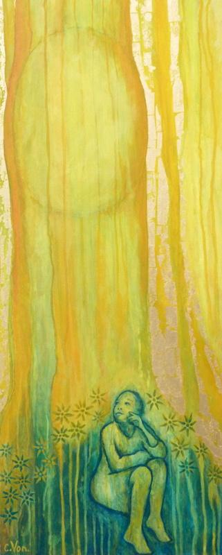 « Marie au tombeau » © Peinture de Corinne Vonaesch
