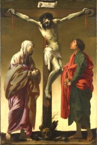 La Crucifixion avec la Vierge et saint Jean ,v. 1624–1625 Hendrick ter Brugghen, peintre Hollandais, 1588–1629