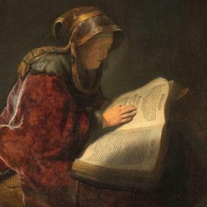 La prophétesse Anne lisant la Bible (1631), Rembrandt (1606-1669), Rijksmuseum, Amsterdam, Pays-Bas