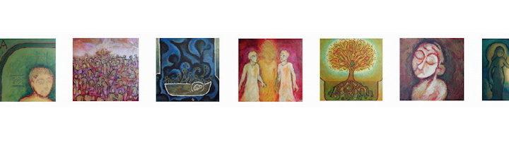 7 au carré - peintures de © Corinne Vonaesch