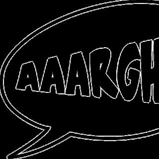 illustration : bulle de bande dessinée évoquant un cri de souffrance AAARGH ! - Image parOpenClipart-Vectors de Pixabay