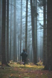homme courant en forêt - Photo by Jakub Kriz on Unsplash