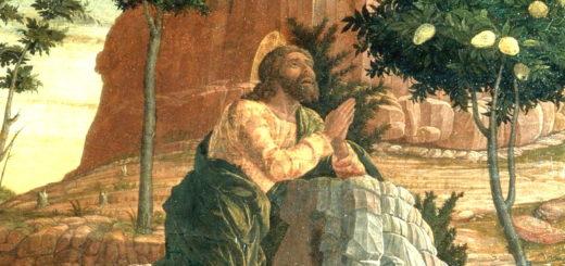 Peinture de Mantegna (XVe siècle) La Prière de Jésus au jardin des oliviers