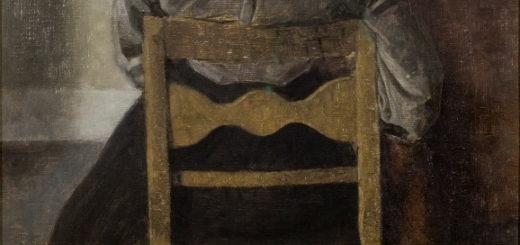 Penture représentant une femme de dos, assise - Vilhelm Hammershøi, Le repos, 1905