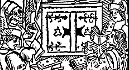 miniature représentant maître Eckhardt enseignant.