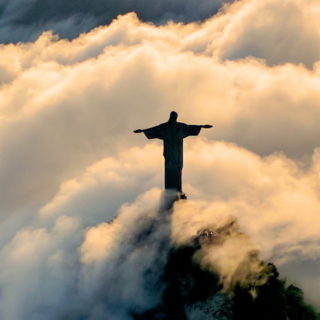 Le Christ rédempteur de Rio de Janeiro - photo robert nyman trouvée sur unsplash