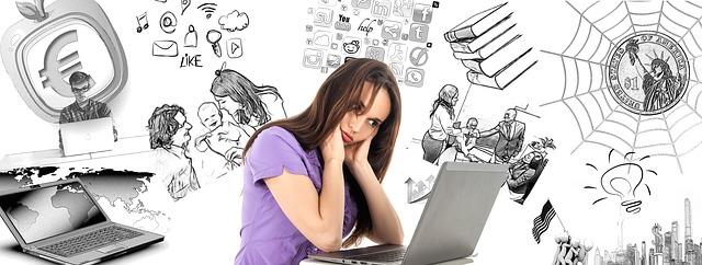 Une femme accablée de multiples soucis - Image parGerd Altmann de Pixabay