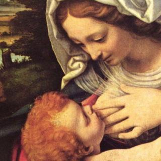 La Vierge au coussin vert. Andrea di BARTOLO, dit SOLARIO. 1507-1510 Musée du Louvre