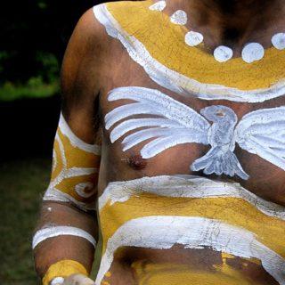 Peintures sur corps avec une colombe (indien) - Image parLaughingRaven de Pixabay