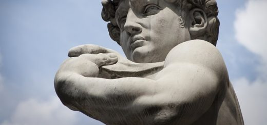 David de Michel-Ange avec un pigeon sur la tête - Image par Francisco Martinez Clavel de Pixabay