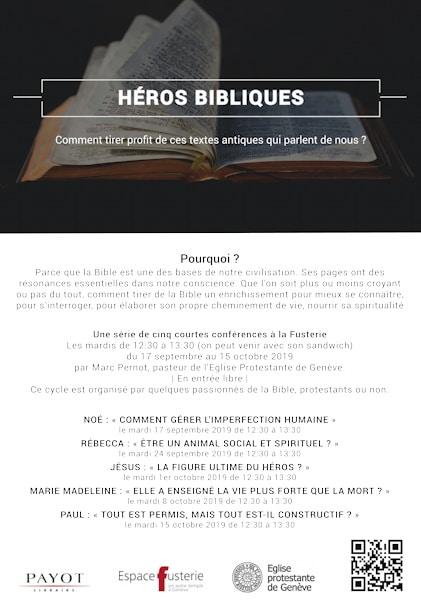 """Affiche du cycle """"héros bibliques"""""""