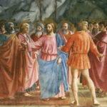 Peinture de Masaccio XVe siècle : Jésus entouré de disciples