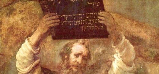 Tableau de Rembrandt représentant Moïse et les tables de la Loi - wikicommons