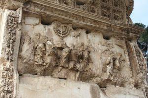 Ménorah - arc de titus - https://fr.wikipedia.org/wiki/Fichier:Arc_titus_relief_sud.jpg