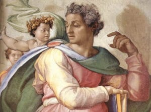 Michelangelo - Isaïe, détail de la fresque de la chapelle Sixtine - wikicommons