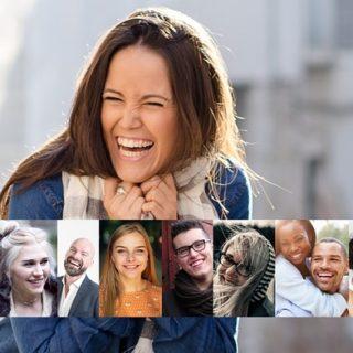toute une série de visages en train de rire ou de sourire - Image par Gerd Altmann de Pixabay