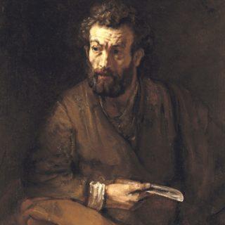 Peinture de Rembrandt représentant un apôtre - Fichier Wikicommons