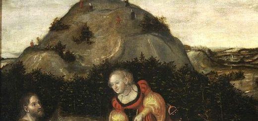 Lucas Cranach - Jésus et la samaritaine