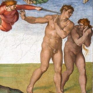 Expulsion du paradis (Michel Ange, 1512)