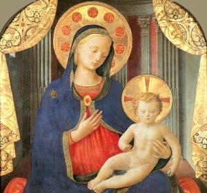 Angelico, madonna col bambino, pinacoteca sabauda