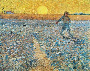 Van-Gogh - Semeur au coucher du soleil - Kröller-Müller Museum