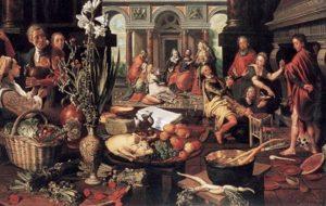 Jésus chez Marthe - peinture de Aertsen