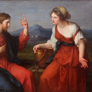Jésus et la Samaritaine, peinture par File:Angelika Kauffmann -1796