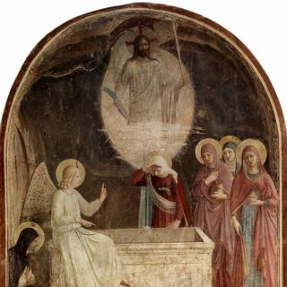 La découverte du tombeau vide, par Fra Angelico, fresque (1437-1446), musée national San Marco, Florence - wikicommons distributed by DIRECTMEDIA Publishing GmbH