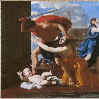 """Le """"massacre des innocents"""" par Nicolas Poussin (1625) - Musée Condé à Chantilly"""