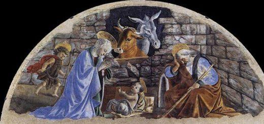 La Nativité, Jésus dans l'étable - Peinture de Botticelli (1476) Polomuseale - wikicommons