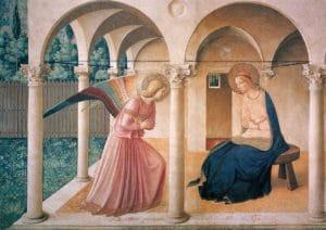L'annonce faite à Marie selon Fra Angelico - Florence, musée San Marco, 1442