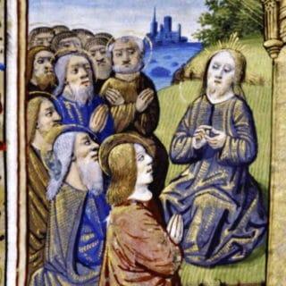 Jésus enseignant à prier à ses disciples - miniature française du XVe siècle (New York Public Library)