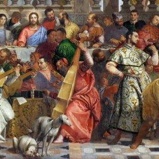 Jésus au Noces de Cana, extrait du tableau de Veronese