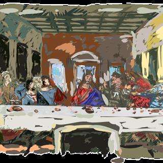 La Cène de Léonard de Vinci réinterprétée - Image par OpenClipart-Vectors de Pixabay