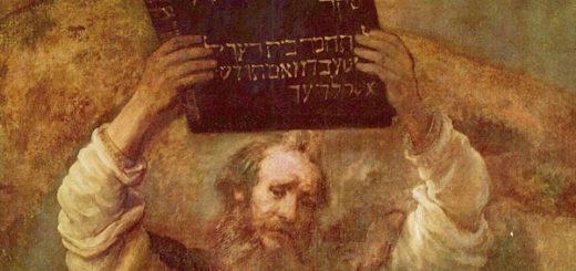 Moïse montrant les tables de la Loi - peinture par Rembrandt