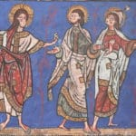 Le Christ envoie ses disciples dans le monde (enluminure du XIIe siècle, missel de Limoges, BNF)
